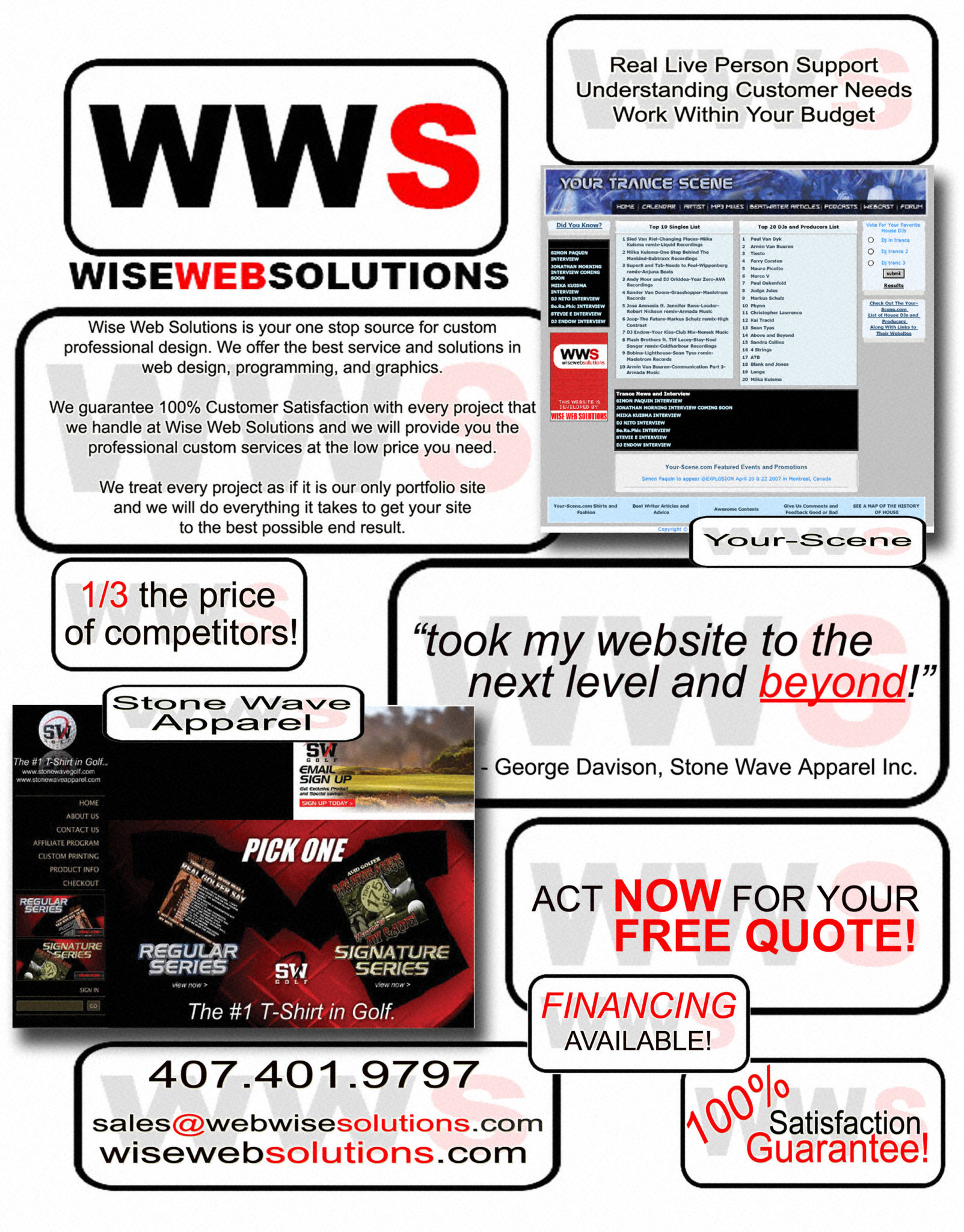 Wise Web Solutions Flyer